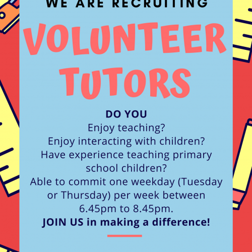 Volunteer Tutors Recruitment