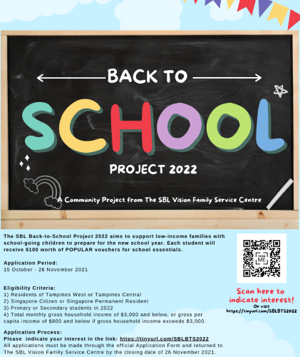 Current Project: SBL Back-To-School Project 2022